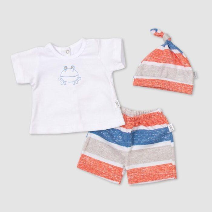 short-remera-y-gorrito-algodon-bebe-Baby-Cheito-verano-2020