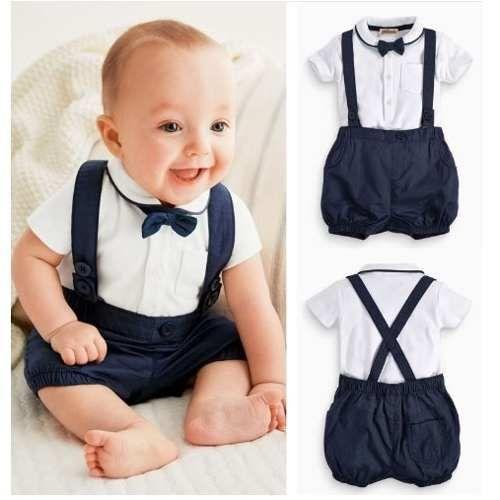 short-azul-con-tiradores-bebe-bautizmo-o-fiesta