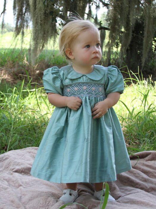 vestido-clasico-liso-punto-smock-beba