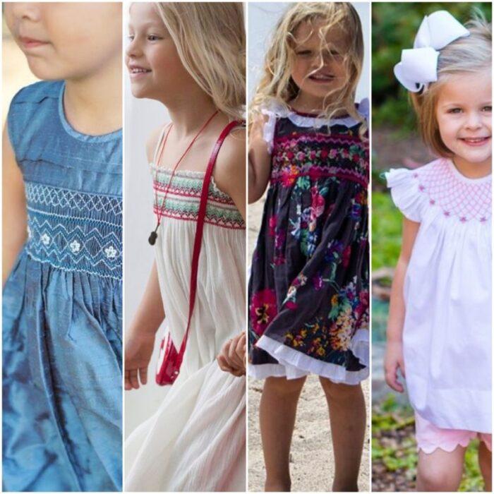 vestidos-punto-smock-niñas