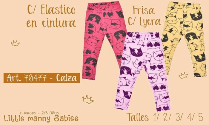 calza estampas modernas y divertidas niña little manny invierno 2020