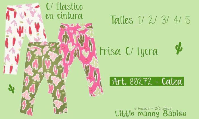 calza lycra friza niña little manny invierno 2020