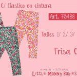 Calzas estampadas para niñas y bebas - Little manny otoño invierno 2020