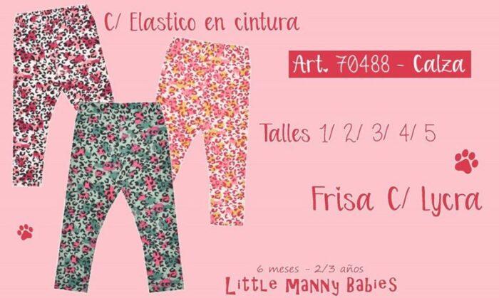 calza niñas estampa leopardo colores Little manny invierno 2020