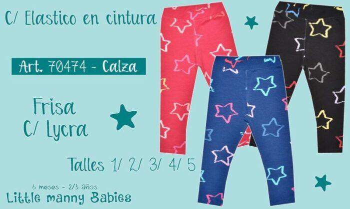 calzas frizadas bebas niñas Little manny otoño invierno 2020