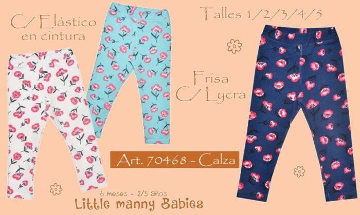 calzas para bebas niñas Little manny otoño invierno 2020