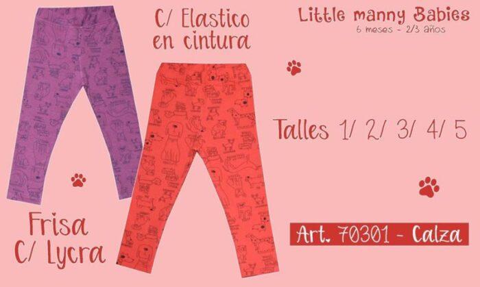 calzas para niñas con frisa little manny invierno 2020