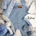 Enterito jardinero de algodon para bebes - Lecollage otoño invierno 2020