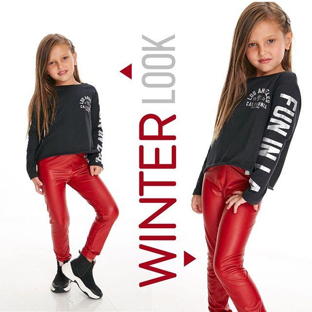 calza engomada roja niña Gimos otoño invierno 2020