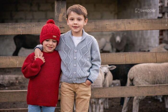 cardigan de lana tejido niño swepper otoño invierno 2020