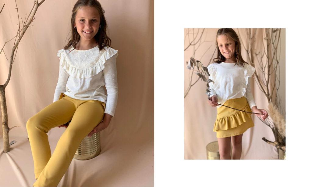 look con pantalones para fiestas de niñas Gro web otoño invierno 2020