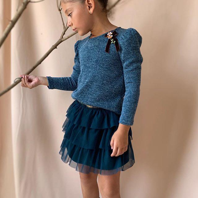 minifalda con volados de niña pra fiestas Gro web otoño invierno 2020
