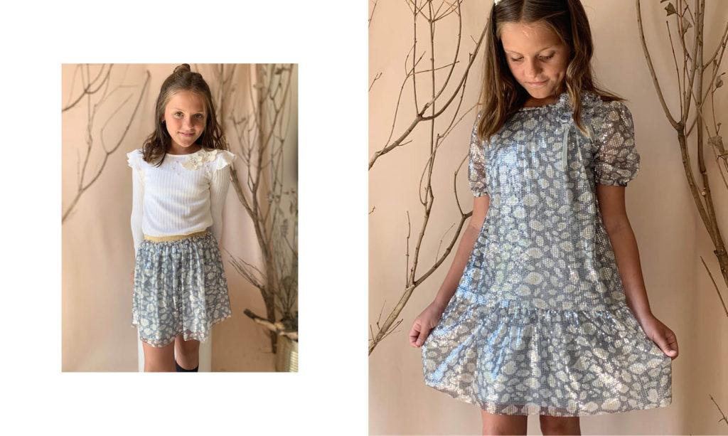 minifalda de niña para fiestas Gro web otoño invierno 2020