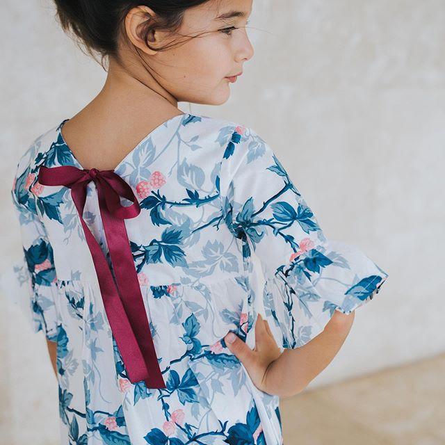 vestido con lazo en espalda para niñas waw invierno 2020