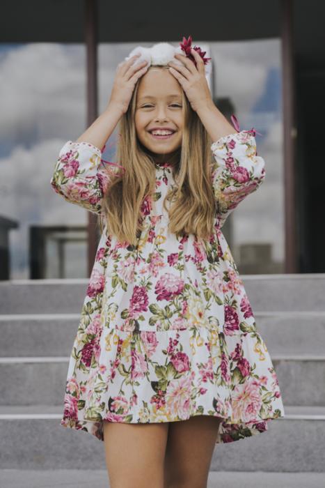 vestido corto mangas largas para niñas waw invierno 2020