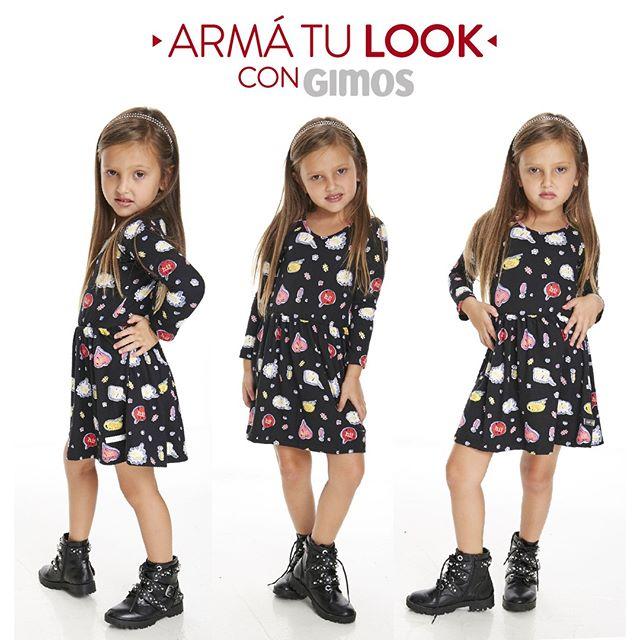 vestido mangas largas nenas Gimos otoño invierno 2020