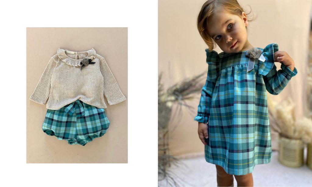 vestido mangas largas para niñas Gro web otoño invierno 2020