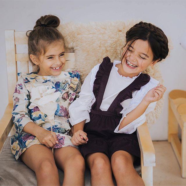vestido mangas largas recto para niñas waw invirno 2020
