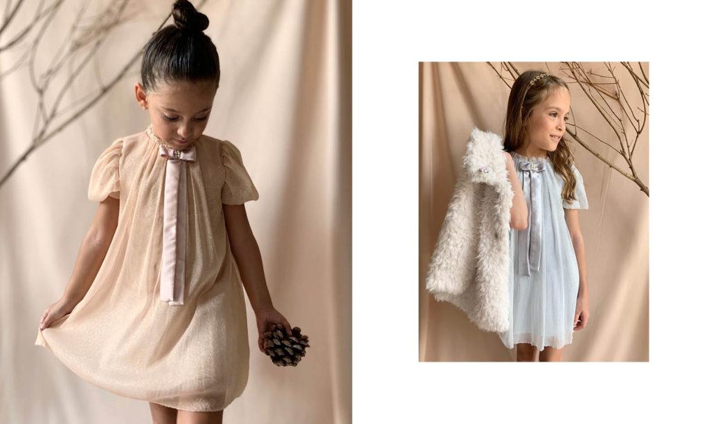 vestidos de fiesta de microtul niña Gro web otoño invierno 2020
