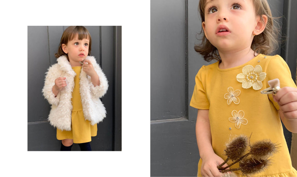 vestidos de fiesta para niñas Gro web otoño invierno 2020
