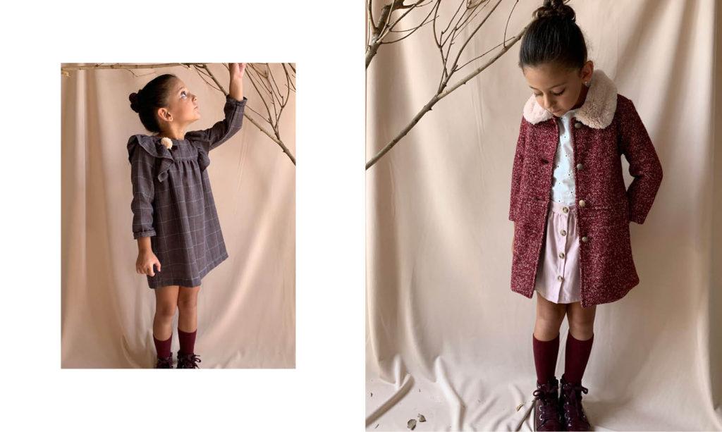 vestidos mangas largas de fiesta para niñas Gro web otoño invierno 2020