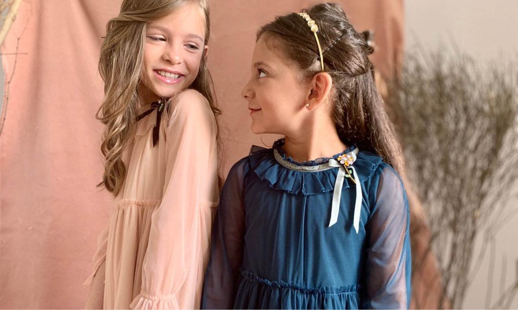 vestidos mangas largas microtul niñas vestidos Gro web otoño invierno 2020