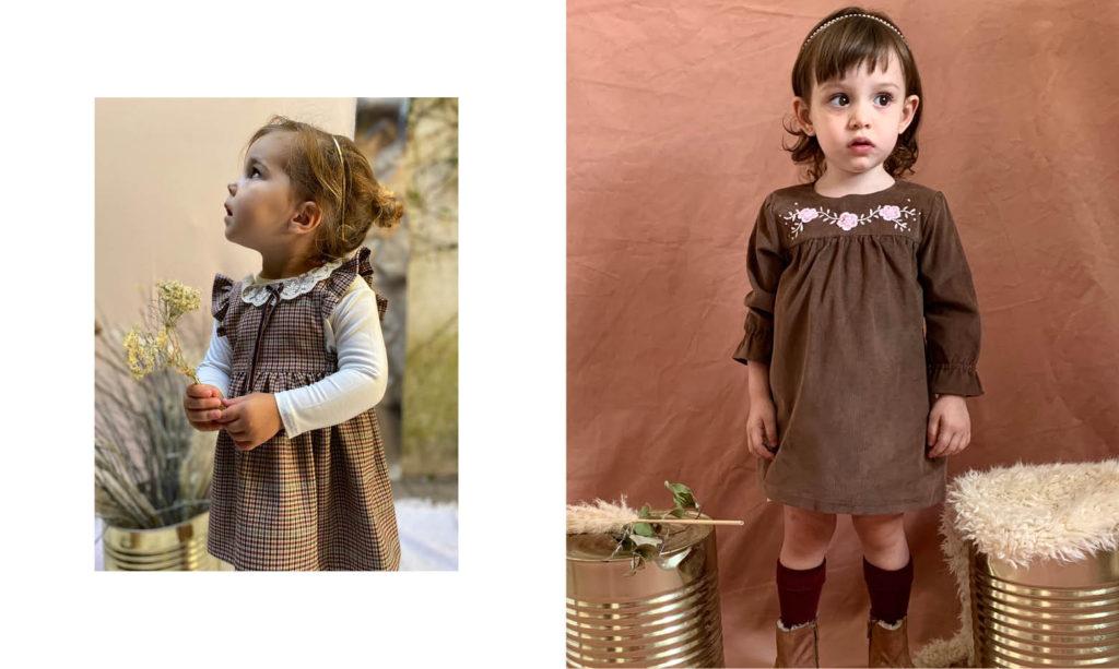 vestidos para bebas Gro web otoño invierno 2020