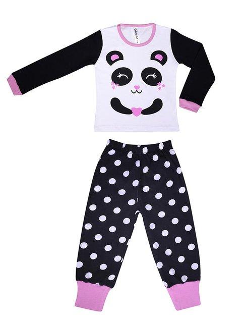 pijama algodon nena panda mangas largas Urbanito invierno 2020