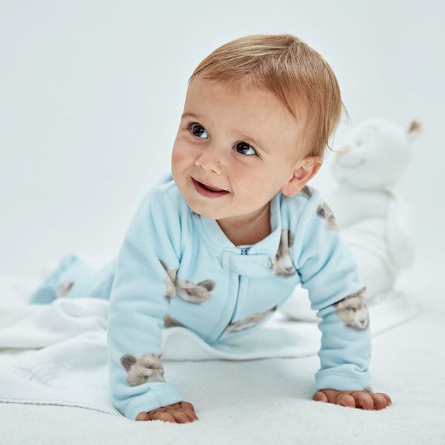 pijama micropolar bebe dormilon cheeky invierno 2020