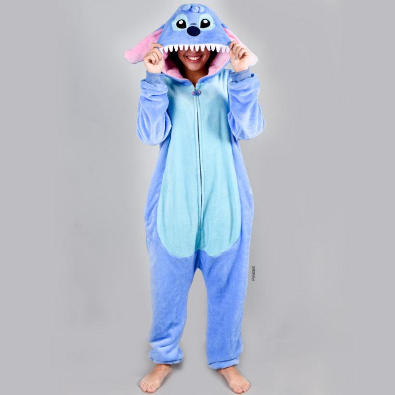 pijamas para niñas stich invierno 2020 piñata