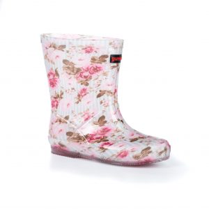 bota floreada lluvia niña gummi
