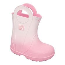 plumita bota rosa de goma para lluvia niñas