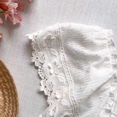 blusas con puntilla para niñas verano 2021