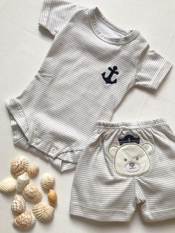 body y short algodon para bebes cocomiel verano 2021