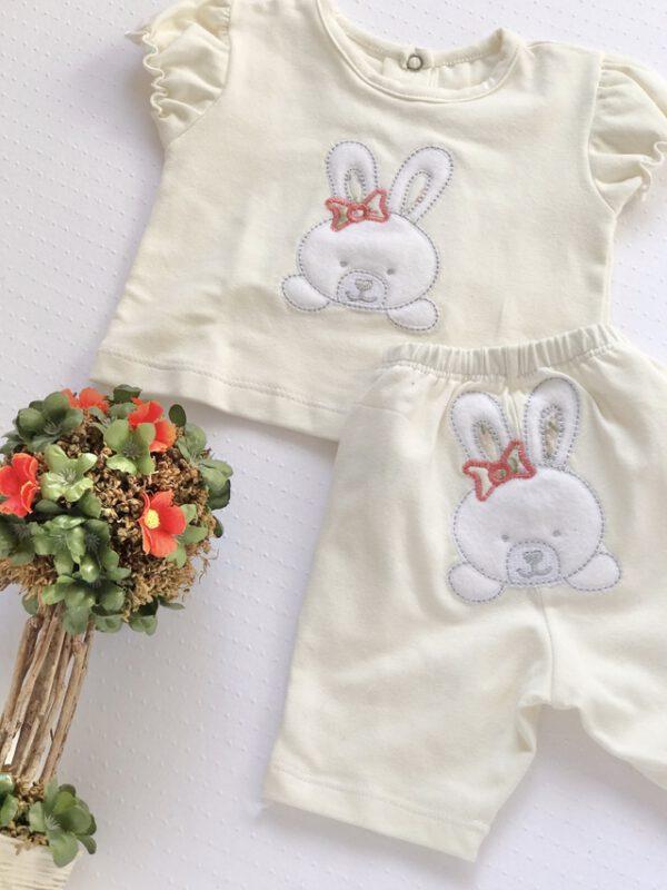 conjunto remera y short algodon bebes cocomiel verano 2021
