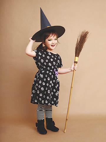 disfraz casero de bruja niña