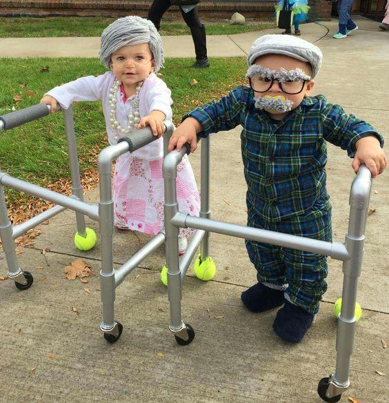 disfraz de ancianos para niños