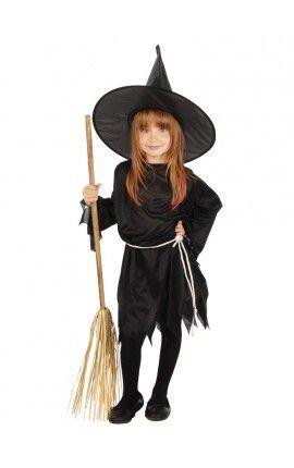 disfraz de bruja facil para niña