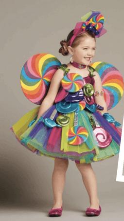 disfraz de dulce paletas niña