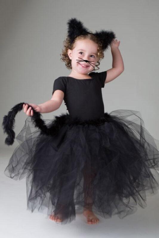 disfraz de gatita negra nina