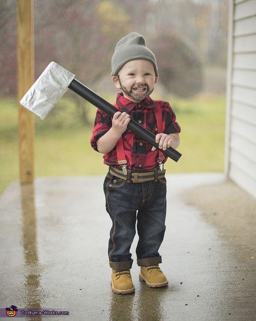disfraz de gnomo leñador para niños