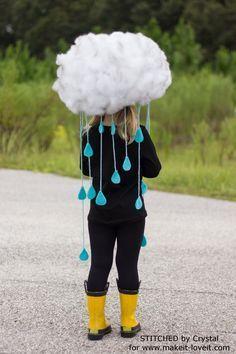 disfraz de nube de lluvia