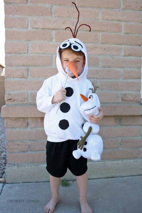 disfraz de olaff hallowen niños