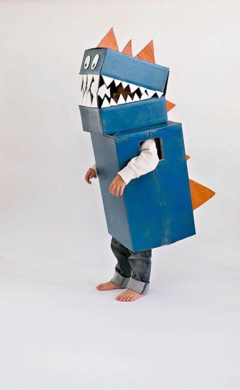 disfraz dinosaurio facil para niños