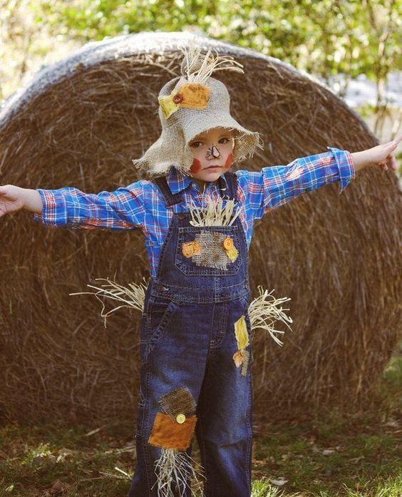 disfraz espantapajaro para niño
