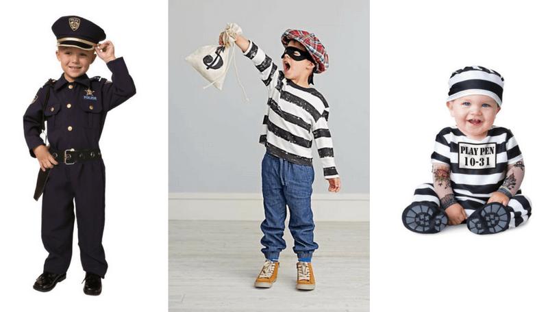 disfraz ladron y policia para niños