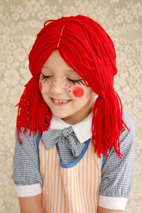disfraz muñeca de trapo hallowen niña