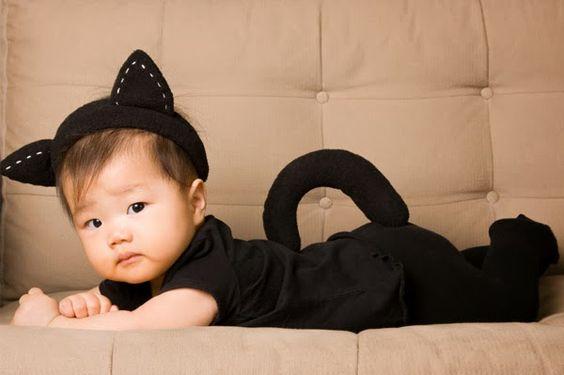 disfraz para beba de gato facil