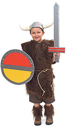 disfraz vikingo para nino casero