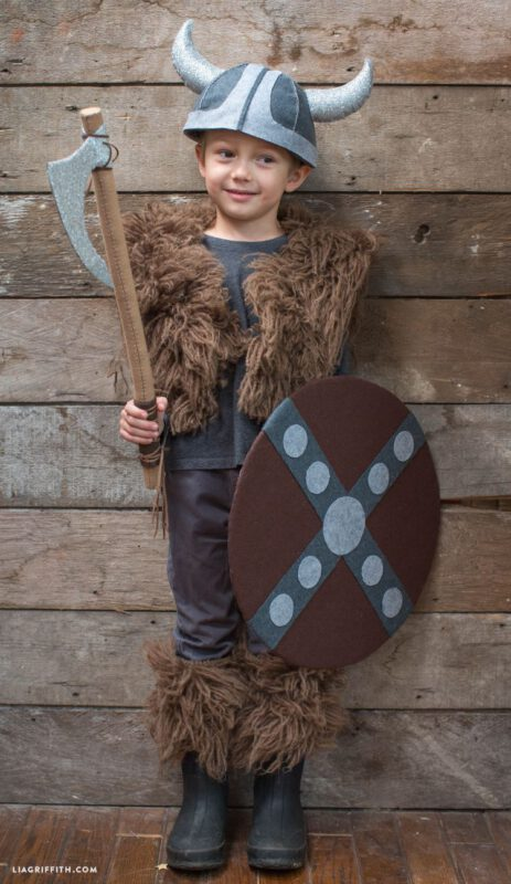 disfraz vikingo para nino facil